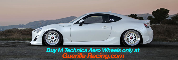 M Technica Aero Wheels on Scion FR-S