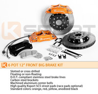 KSport 304mm ProComp 6 Piston Front Big Brake Kit - Honda Civic 1992-1995 EX Coupe w/rear disc & ABS, EX sedan, LX sedan w/rear disc, SI w/ABS