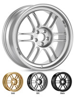 "Enkei RPF1 Wheel - 18x8"" 5x100 / 5x112 / 5x114.3 Silver/Gold"