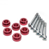Skunk2 Lower Control Arm Bolt Kit, Red Anodized