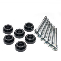Skunk2 Lower Control Arm Bolt Kit, Black Anodized