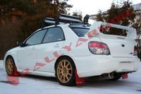 Rally Armor Red/White Urethane  Mud Flaps - 2002-2007 Subaru Impreza WRX/STI