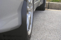 Rally Armor Black/Black Classic  Mud Flaps - Mitsubishi EVO 8/9/MR