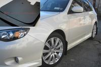 Rally Armor Black/Black Basic Mud Flaps - 2008-11 Subaru Impreza WRX