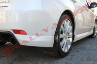 Rally Armor Black/Red Urethane Mud Flaps - 2008-11 Subaru Impreza WRX