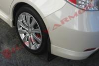 Rally Armor Black/Grey Urethane  Mud Flaps - 2008-11 Subaru Impreza WRX