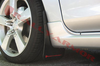 Rally Armor Black/Red Urethane  Mud Flaps - 2004-2009 Mazda3/Speed 3