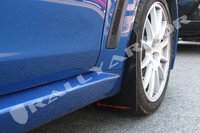 Rally Armor Black/Red Urethane  Mud Flaps - 2008+ Mitsubishi EVO X