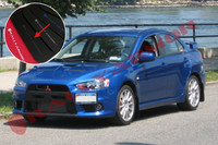Rally Armor Black/Grey Urethane  Mud Flaps - 2008+ Mitsubishi EVO X