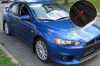 Rally Armor Black/Blue Urethane  Mud Flaps - 2008+ Mitsubishi EVO X