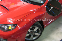 Rally Armor Black/Red Urethane  Mud Flaps - Version 2 2008-2011 Subaru STI & 2011 WRX