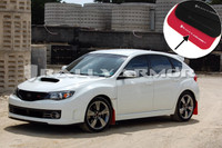 Rally Armor Red/White Urethane  Mud Flaps - Version 2 2008-2011 Subaru STI & 2011 WRX