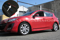 Rally Armor Black/Red Urethane  Mud Flaps - 2010+ Mazda3/Speed3
