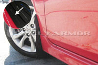 Rally Armor Black/Grey Urethane  Mud Flaps - 2010+ Mazda3/Speed3