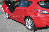 Rally Armor Red/White Urethane  Mud Flaps - 2010+ Mazda3/Speed3