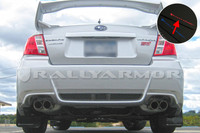 Rally Armor Black/Red Urethane  Mud Flaps - 2011+ Subaru STI/WRX