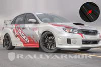 Rally Armor Black/Blue Urethane  Mud Flaps - 2011+ Subaru STI/WRX