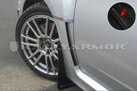 Rally Armor Black/Silver Urethane  Mud Flaps - 2011+ Subaru STI/WRX