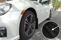 Rally Armor Black/Silver Urethane Mud Flaps - Scion FR-S / Subaru BR-Z