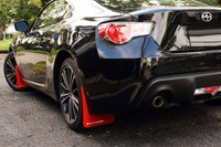 Rally Armor Red/White Urethane Mud Flaps - Scion FR-S / Subaru BR-Z