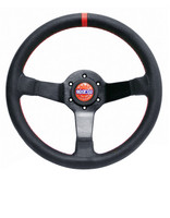 Sparco Champion Steering Wheel - Perforated Leather with Red Stitching