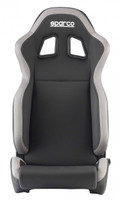 Sparco R100 Reclinable Racing Seat in Black / Gray - Front View