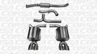 Corsa Cat-Back Exhaust - Polished Tips - Subaru WRX / STI Sedan 11-13
