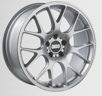 BBS CH-R 19x8 5x114.3 ET38 Brilliant Silver Polished Rim Protector Wheel -82mm PFS/Clip Required