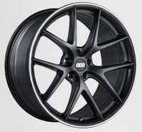 BBS CI-R 19x8 5x114.3 ET38 Satin Black Polished Rim Protector Wheel -82mm PFS/Clip Required