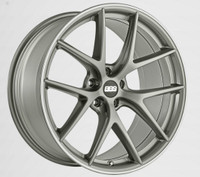 BBS CI-R 19x8 5x114.3 ET38 Platinum Silver Polished Rim Protector Wheel -82mm PFS/Clip Required