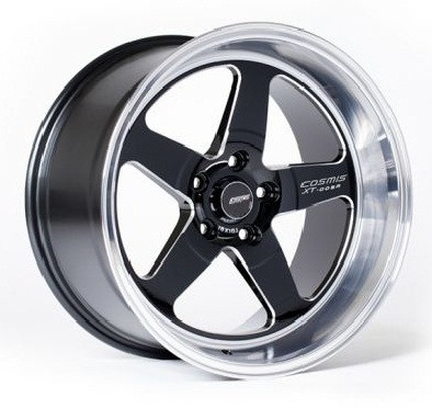 Cosmis Racing XT-005R Wheel in Black with Machined Lip