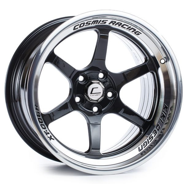Black with Machined Lip Cosmis Racing XT-006R Wheel