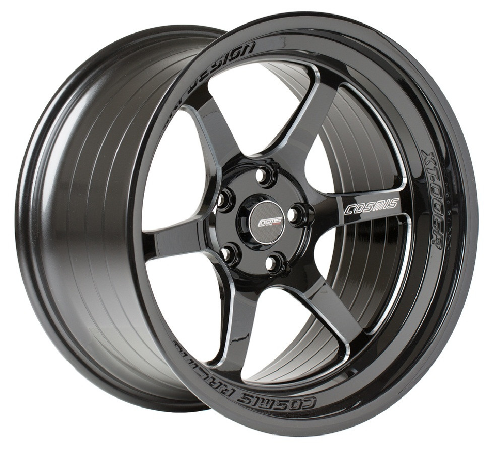 Black with Milled Spokes Cosmis Racing XT-006R Wheel
