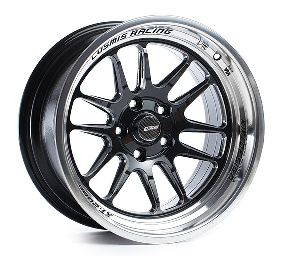 Cosmis Racing XT-206R Wheel in Black with Machined Lip and Spokes
