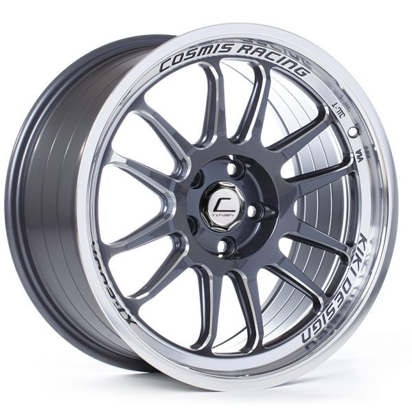 Cosmis Racing XT-206R Wheel in Gun Metal with Machined Lip