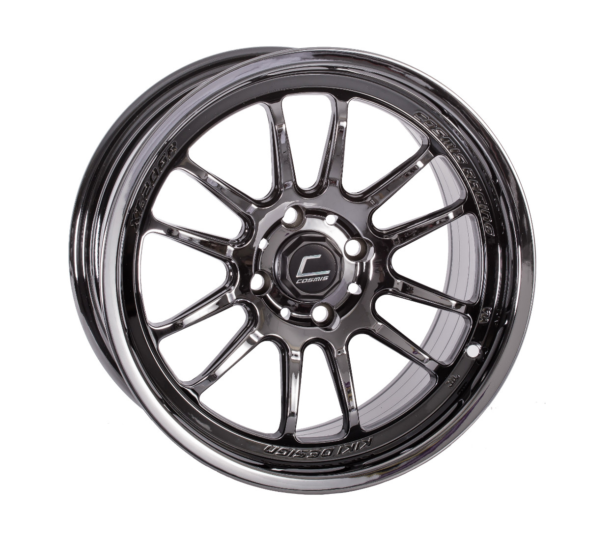 "Cosmis Racing XT-206R Wheel in 15x8"" - Black Chrome"