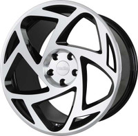 Radi8 r8s5 Wheel in Glossy Black / Machined Face