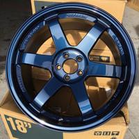 Volk Racing TE37SL Wheel - 18X10.0 +30 5x114.3 MAG BLUE