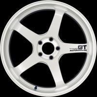 Advan GT Wheel - 18X12.0 +27 5x114.3 RACING WHITE