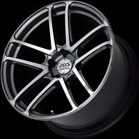 Advan MODEL F50 Wheel - 20X10.0 +35 5x114.3 PLATINUM BLACK COMBI