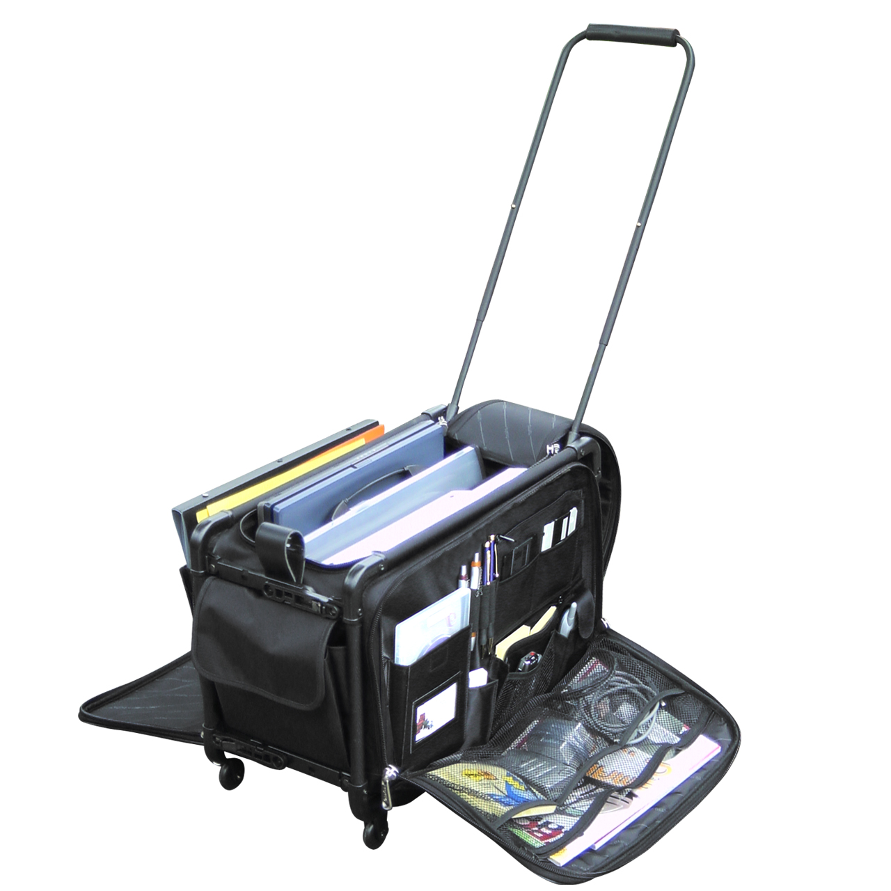 Tutto business case the only luggage medically endorsed as back saving - The mobile office working on two wheels ...