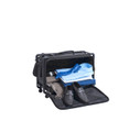 4 Wheel case with the front, 360 degree swivel wheels