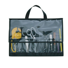 Front view / versatile pockets on both sides to organize your tools