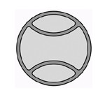 BASEBALL Bowl & Tray Template