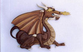 DRAGON INTARSIA PATTERN