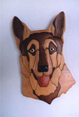 GERMAN SHEPARD INTARSIA PATTERN