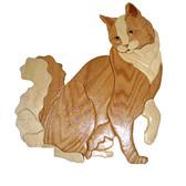 SITTING LONG HAIR CAT Intarsia Pattern