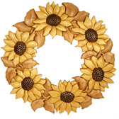 SUNFLOWER WREATH Intarsia Pattern