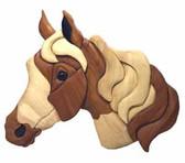 BEGINNER HORSE INTARSIA PATTERN