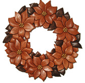 POINSETTIA WREATH INTARSIA PATTERN